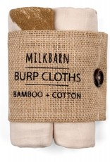 Milkbarn Burp Clothes Bamboo + Cotton Pink Bt Alpca
