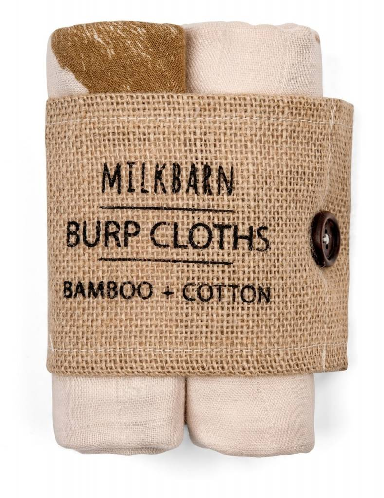Milkbarn Burp Clothes Bamboo + Cotton Pink Bt Alpca