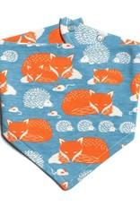 Winter Water Factory Kerchief Bib Foxes & Hedgehogs