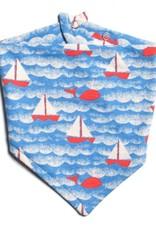 Winter Water Factory Kerchief Bib Sailboats Orange/Blue