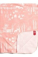 Winter Water Factory Lightweight Blanket Farm Next Door Blush Pink