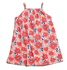 Winter Water Factory Milano Dress Flower Garden Coral