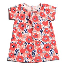 Winter Water Factory Sonora Baby Dress Flower Garden Coral