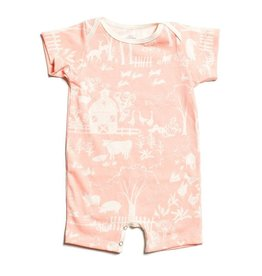 Winter Water Factory Summer Romper Farm Next Door Blush Pink