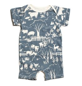 Winter Water Factory Summer Romper Farm Next Door Slate Blue