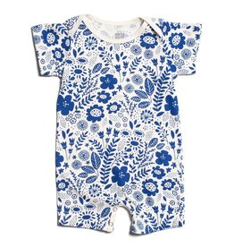 Winter Water Factory Summer Romper Wildflowers Blue