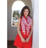 Rockflowerpaper Callie Coral Oversized Scarf