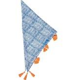 Rockflowerpaper Chistina Blue Triangle Scarf