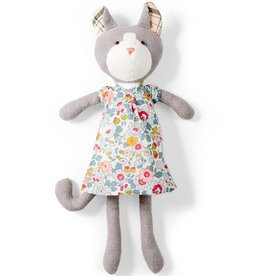 Hazel Village Stuffed Animal Gracie Cat in Liberty sweet rose dress