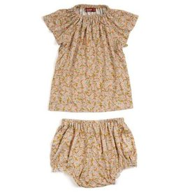 Milkbarn Bamboo dress and bloomer set Rose Floral