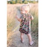 Milkbarn Bamboo dress and bloomer set Teal Floral