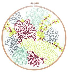 Studio MME Succulent Garden Embroidery Kit