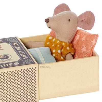 Maileg Mouse Little Sister Polka Dot Dress in Box