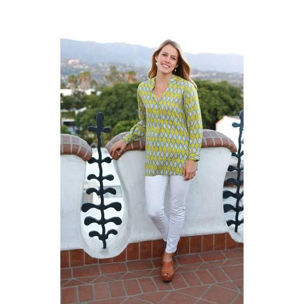 Rockflowerpaper Caroline Green Henley Tunic