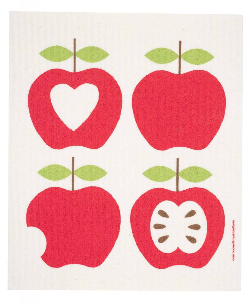 Cose Nuove Swedish Dischcloth 4 Apples