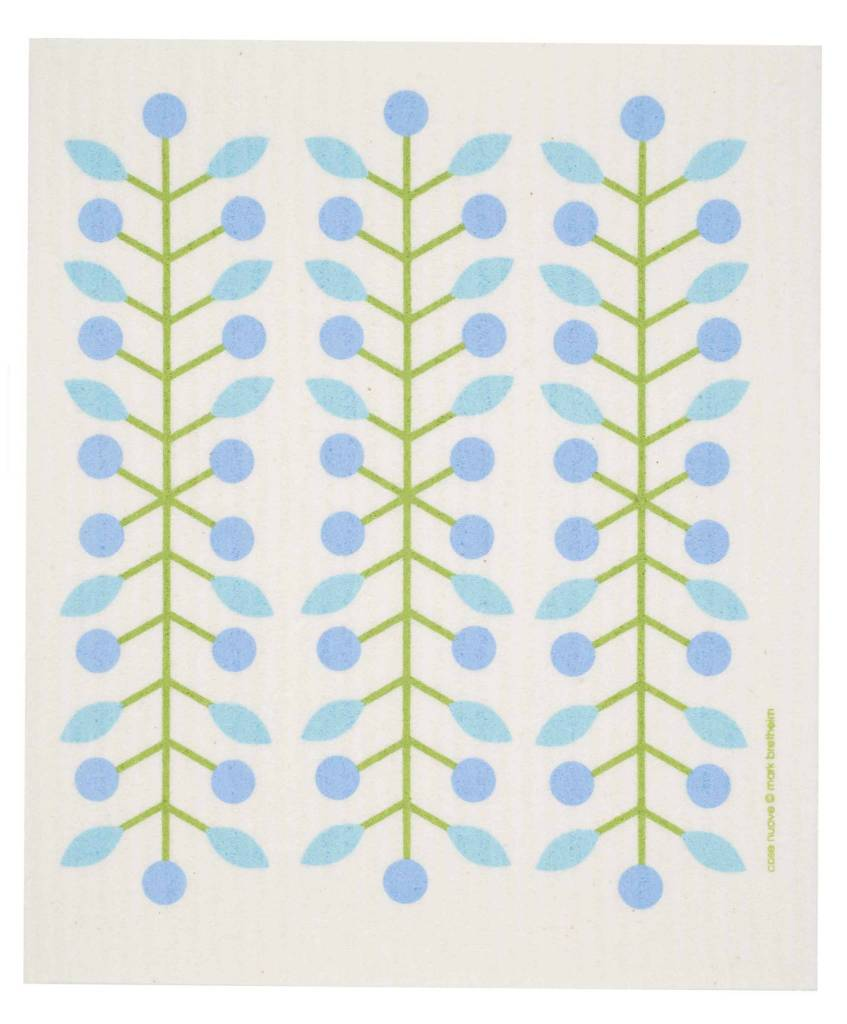 Cose Nuove Swedish Dischcloth Berry Branch Blue