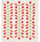 Cose Nuove Swedish Dischcloth Berry Branch Red
