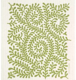 Swedish Dischcloth Leaves Green