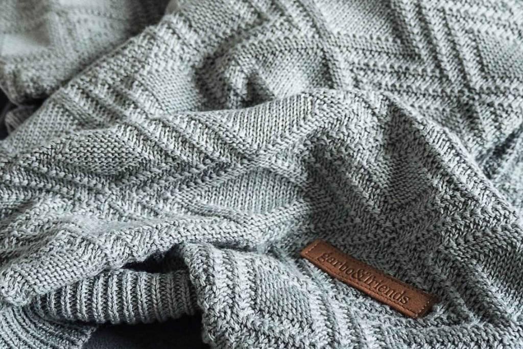 Garbo&Friends Ollie Teal Cotton Blanket