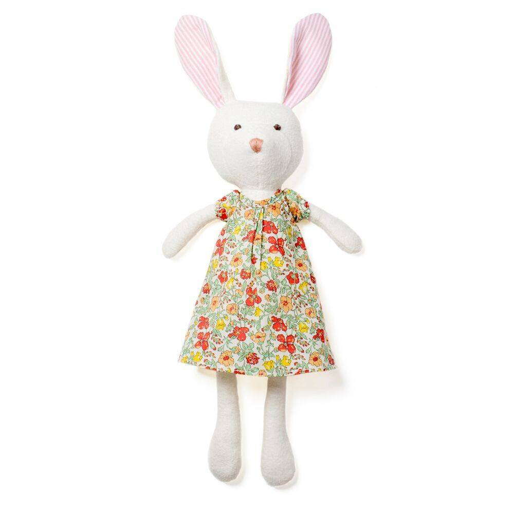 "Hazel Village Emma Rabbit in Liberty of London ""Clover"" Dress"
