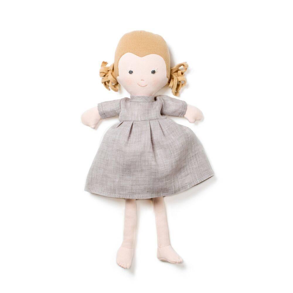 Hazel Village Doll Fern in Linen Dress