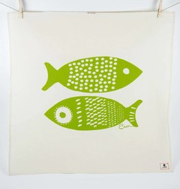 Erin Flett Tea Towel Vintage Green Double Tuna