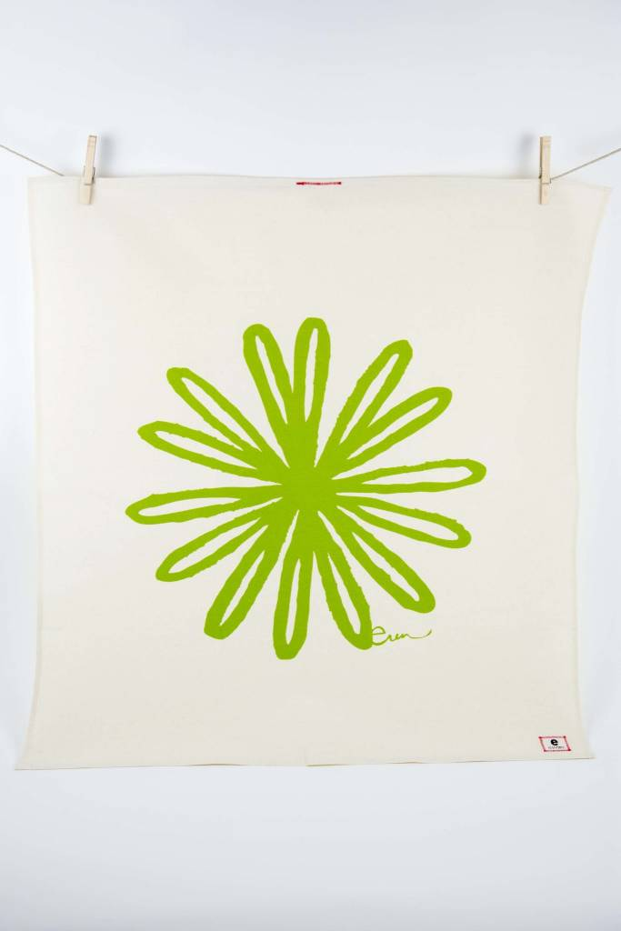 Erin Flett Tea Towel Vintage Green Bloom