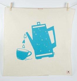 Erin Flett Tea Towel Sea Blue Coffee