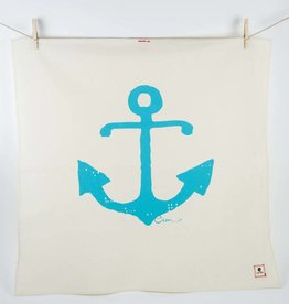 Erin Flett Tea Towel Sea Blue Anchor
