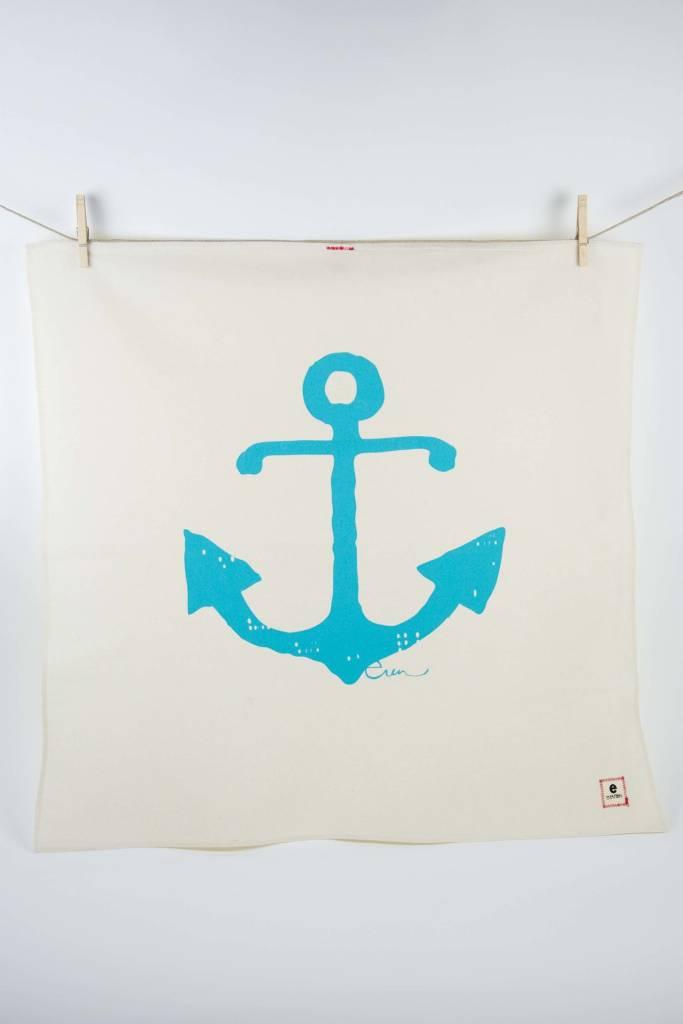 Erin Flett Tea Towel Sea Blue Anchor