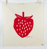 Erin Flett Tea Towel Ruby Strawberry