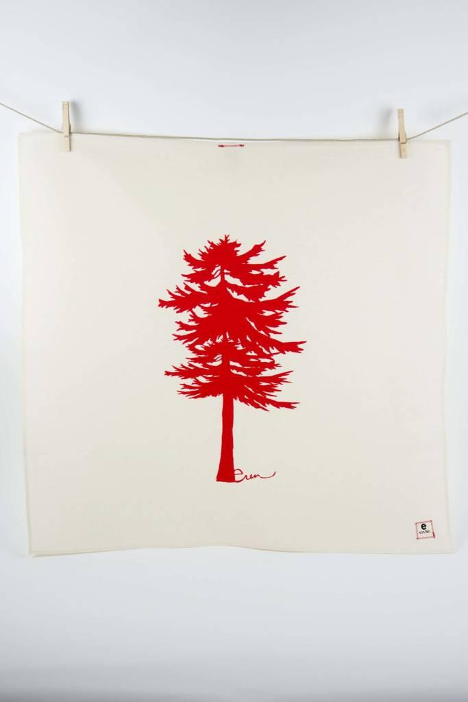 Erin Flett Tea Towel Red Conifer