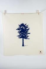 Erin Flett Tea Towel Navy Conifer