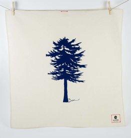 Erin Flett Tea Towel Conifer Navy