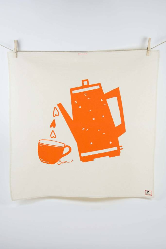 Erin Flett Tea Towel Mango Coffee