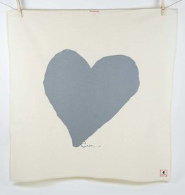 Erin Flett Tea Towel Gray Heart