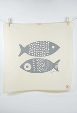 Erin Flett Tea Towel Gray Double Tuna
