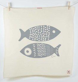 Erin Flett Tea Towel Gray Double Tuna