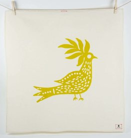 Erin Flett Tea Towel Golden Rod Peacock