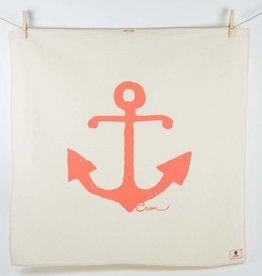 Erin Flett Tea Towel Coral Anchor