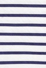 Rockflowerpaper Bateau Stripe White & Navy Poncho OS