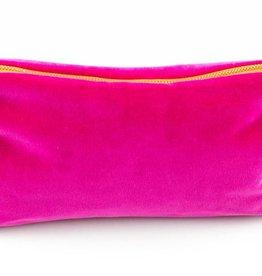 Erin Flett Velvet Clutch Hot Pink
