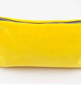 Erin Flett Velvet Clutch Yellow