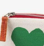 Erin Flett Zip Pouch Hearts Green