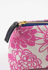 Erin Flett Zip Linen Makeup Bag Berry Garden