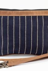 Calliope Top Zip Crossbody Linen Dot