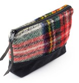Igneous Zip Pouch 100% Wool Tartan