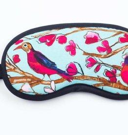 Dana Herbert Accessorries Eye Mask Aqua and Red Birds