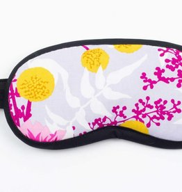 Dana Herbert Accessorries Eye Mask Magenta and Gold Floral