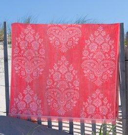 Caro Home Pashmina Beach Towel Coral
